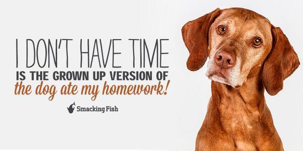 i dont have time dog